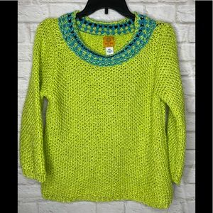 Ruby Red Size XL-P Fluorescent GreenBlue Sweater